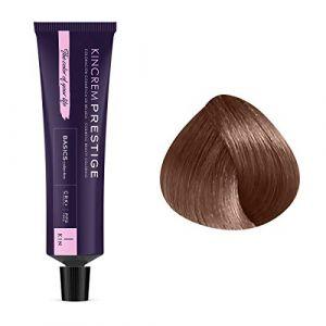 Kin Cosmetics Coloration permanente enrichie à la kératine 7.1 - Blond Moyen Cendré, 60ml