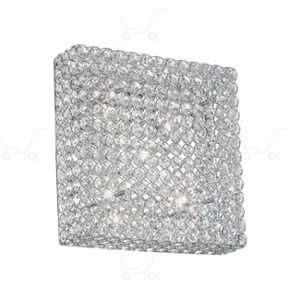 Ideal lux Applique/plafonnier 6 lampes design Admiral Chrome Métal 080345 - Métal - Chrome