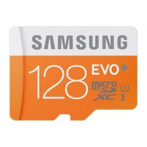 Samsung MB-MP128DA/EU - Carte mémoire MicroSDXC 128 Go CL10 EVO UHS-I + adaptateur SD