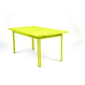 Fermob Costa - Table de jardin carrée - vert clair verveine/allonges/L 160-240cm/PxH 90x73cm