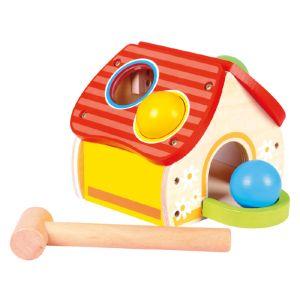 Bino Maison avec marteau en bois