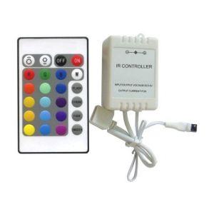 Silamp Contrôleur RGB + Télécommande 24 commandes pour ruban LED RGB