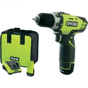 Ryobi RCD12012L - Perceuse visseuse Compacte 12V Lithium-Ion + 2 batteries