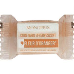 Monoprix Cube bain effervescent fleur d'oranger