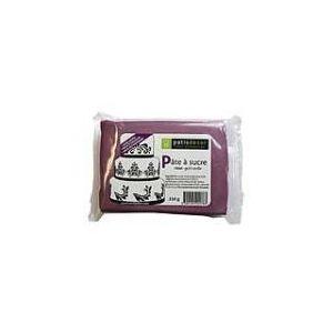 Patisdécor Pâte à sucre violet goût vanille (250g)