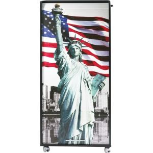 Meuble informatique à rideau coulissant Liberty