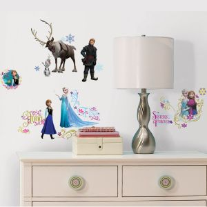 ROOMMATES Stickers muraux La Reine des Neiges