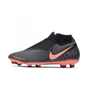 Nike Chaussures de football Phantom Vision Academy Dynamic Fit MG Gris foncé / Orange - Taille 44,5
