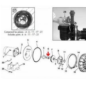Procopi 571039 - Garniture mécanique de pompe Sta-Rite P2R pour eau salée