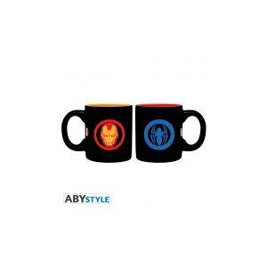 Abysse Corp 2 mini mugs Marvel Iron Man et Spider-man 110 ml