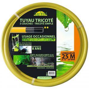 Cap Vert Tuyau tricoté 3 couches TP - Longueur 25 m - Diamètre 15 mm