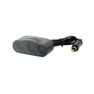 Triple prise allume-cigare raccord DIN 12V/24V 12 A HTC