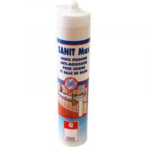 Arcane industries MASTIC SANIT MAX - Mastic silicone sanitaire type acétique verre émail céramique anti-moisissure anti-salissure souple | blanc - 1 cartouche de 310 ml