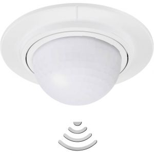 Steinel Détecteur de mouvements PIR 032845 pour lextérieur, pour lintérieur plafond 360 ° blanc IP54