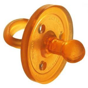 Goldi Sauger 10084 - Sucette bout rond en caoutchouc naturel (0-3 mois)