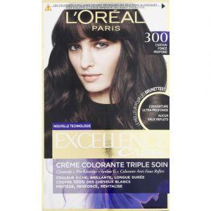 L'Oréal Crème colorante triple soin 300 châtain foncé profond