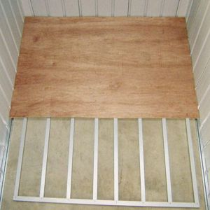 Yardmaster 67FK - Kit plancher pour abri de jardin en métal 67ZGEY et 67GEYZ