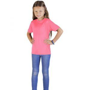 Promodoro UV-Performance T-shirt Enfants, 140, rose fluo