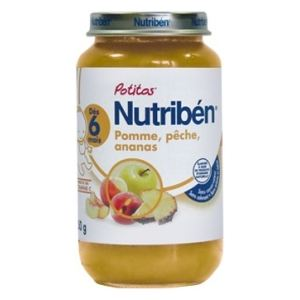Nutribén Mon 1er Potito : Pomme, pêche, ananas 250g - dès 6 mois
