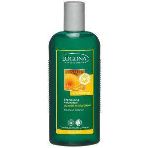 Logona Shampoing volume bière miel pour cheveux fins