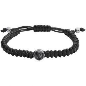 Diesel Bracelet Bijoux DX1043040 - STACKABLES Cuir Noir 18 + 1,5 cm Homme