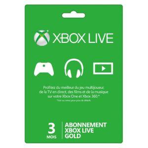 Microsoft Carte abonnement Xbox Live Gold pour Xbox 360