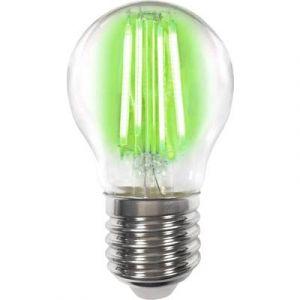 LightMe LED EEC classe A++ (A++ - E) E27 en forme de goutte 4 W vert (Ø x L) 45 mm x 77 mm à filament 1 pc(s)
