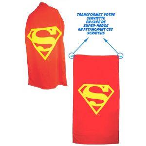 Serviette Superman convertible en cape (140 x 70 cm)