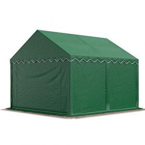 Intent24 Abri / Tente de stockage PREMIUM - 3 x 4 m en vert fonce