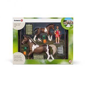 Schleich 21049 - Kit de jeu nourriture pour chevaux