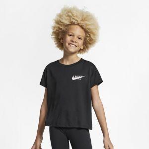 Nike Haut de trainingà manches courtes Dri-FIT pour Fille plus âgée - Noir - Taille S - Femme