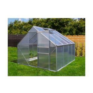 Plantiflex Serre de jardin 6.25 m² en aluminium avec porte et une fenêtre