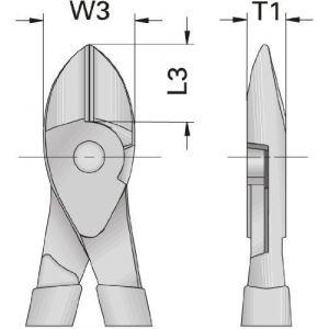 Gedore Pince coupante diagonale VDE avec manchon d'isolation 180 mm - VDE 8316-180 H