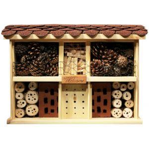 Luxusinsektenhotels Hôtel à insectes avec système de fixation simple Style maison de campagne