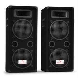 Auna JO-PW-65X22W - Système d'enceintes PA passives 2x 16 cm 3 canaux 1200W