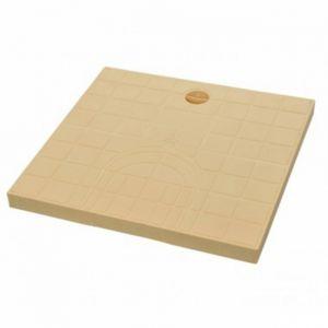 GIRPI Tampon de regard prédécoupé - Sable - Dimension 30 x 30 cm