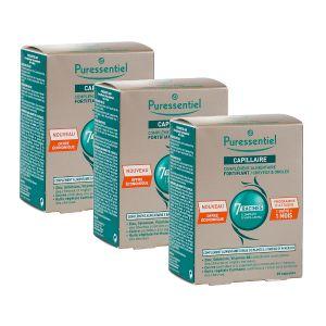 Puressentiel Anti-Chute - Capillaire complément alimentaire 7 racines, 3 x 60gélules