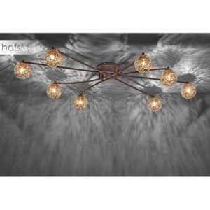 Paul neuhaus Plafonnier LED, Ampoule halogène G9 EEC: selon lampoule (A++ - E) 320 W GRETA 6225-48 rouille, or