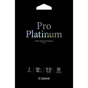 Canon 2768B013 - 20 feuilles de papier photo Pro Platinum 300g/m² (10 x 15 cm)