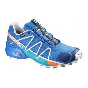 Salomon Femme Speedcross 4 Chaussures de Trail Running, Bleu (Hawaiian Surf/Acid Lime/White), Taille: 42