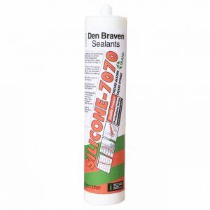 Den Braven Mastic Silicone-7070 (différents coloris) (blanc) - Couleur : Blanc