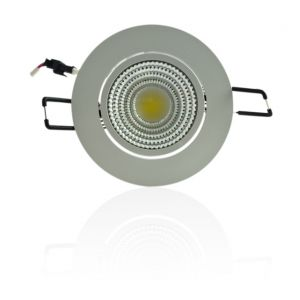 Superled Plafonnier encastrable blanc LED 5W COB - éclairage 40W