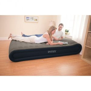 intex 67726 matelas pneumatique deluxe queen avec pompe. Black Bedroom Furniture Sets. Home Design Ideas