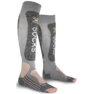X-Socks Chaussettes Skiing Light Grey Woman