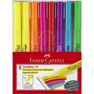 Faber-Castell Surligneur TEXTLINER 38, étui de 8 - Lot de 2