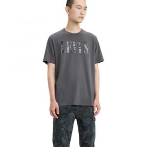 Levi's Relaxed Graphic Tee T-Shirt, Gris (90's Serif Logo Forged Iron 0045), Medium Homme