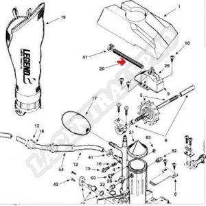 Procopi 1002030 - Tuyau de turbine/venturi Polaris 180-280