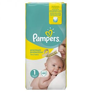 Image de Pampers New Baby taille 1 (2-5 kg) - Essential Pack 44 couches