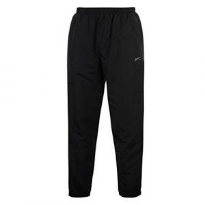 Slazenger Pantalon de survêtement tissé avec jambes resserrées, Pour courir, Homme Taille XXXL noir