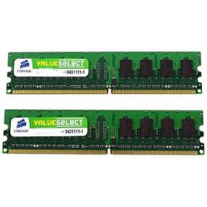 Corsair VS2GBKIT667D2 - Barrettes mémoire Value Select 2 x 1 Go DDR2 667 MHz CL5 Dimm 240 broches